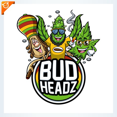 BUD HEADZ logo design