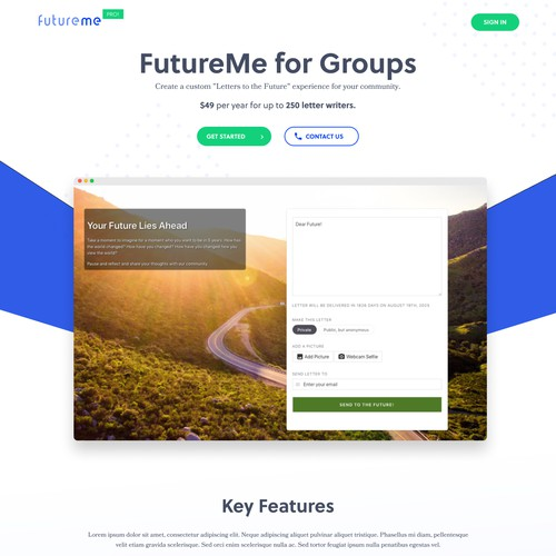 futureme pro sass product website template