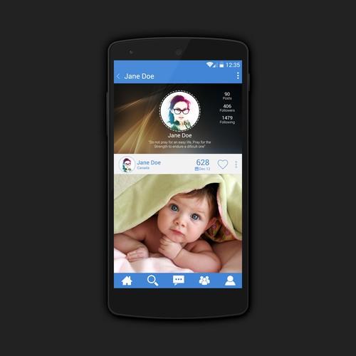 App UI design for Photo Sharing App