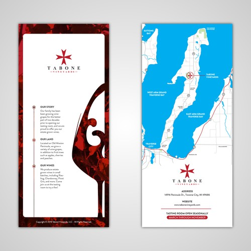 Winery Tasting Room Rack Card