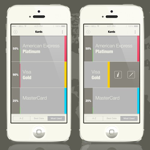 ** Extended / Prize Increased ** Create a clean, modern iPhone App UI for Kards