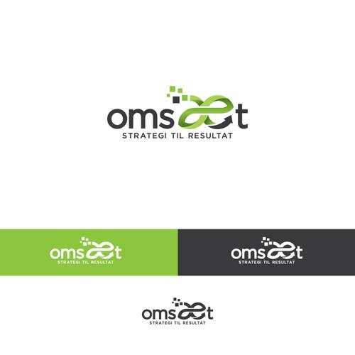 Modern logo for Omsæt