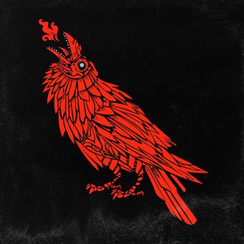 Red Mecha Raven Design