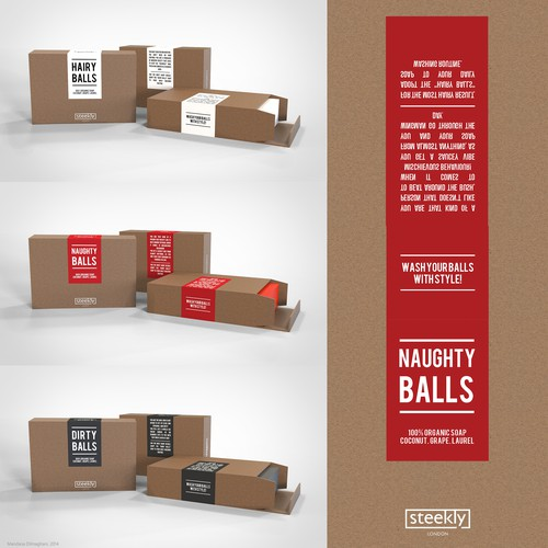 """Create simple and minimalistic """"Apple alike"""" packaging for 100% Organic Soap"""