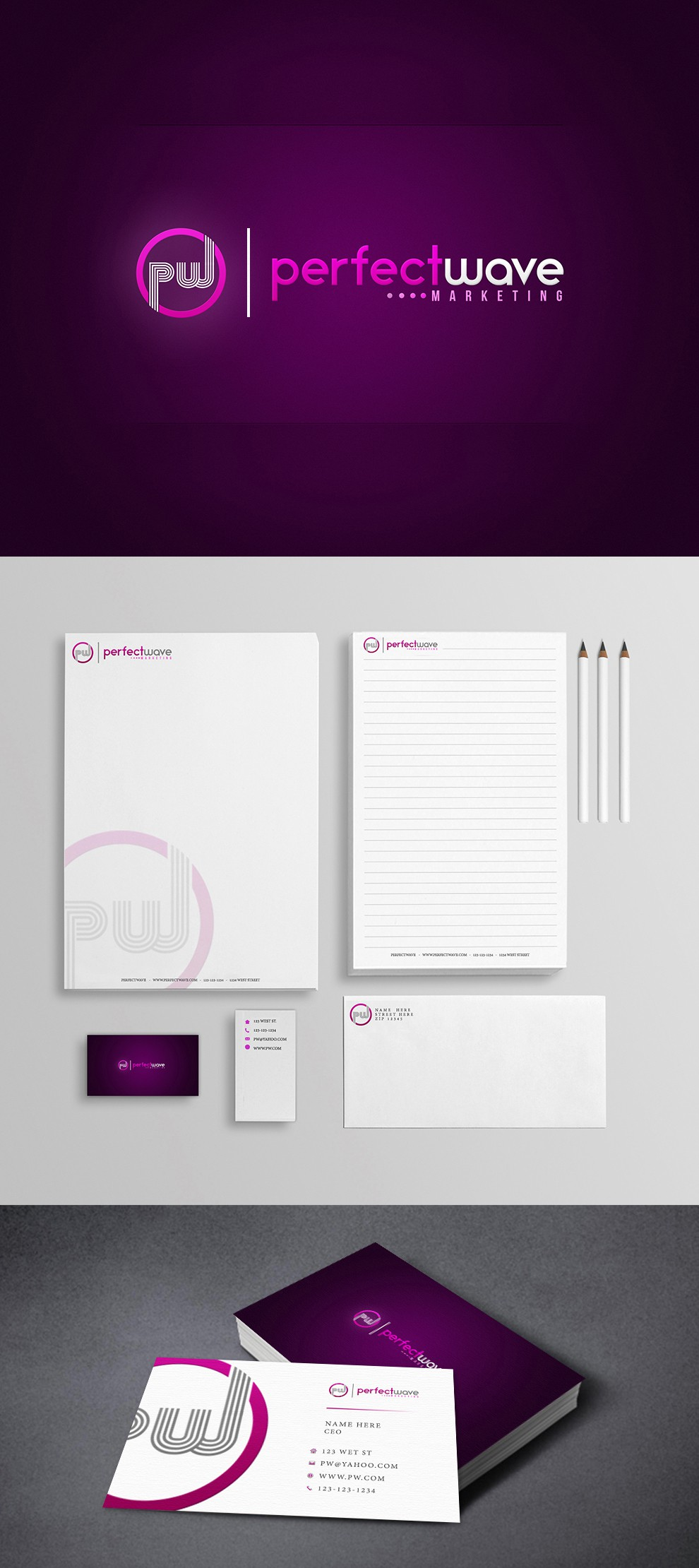 Perfect Wave Marketing needs a new logo