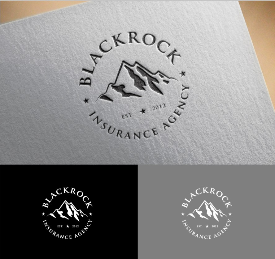 Create a minimal badge logo for an insurance agency