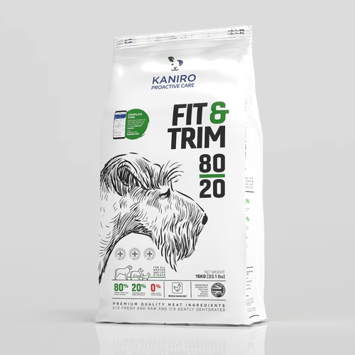 Dog food bag design