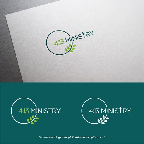 bold logo concept for 4:13 ministry.