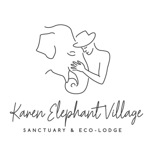Elephant village logo