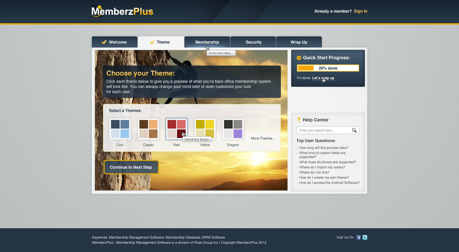 Create the next website design for MemberzPlus - A Division of Ross Group Inc