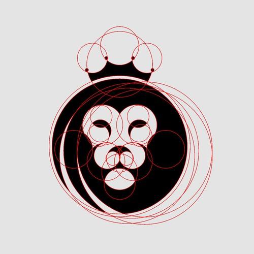 Perfect circle lion head