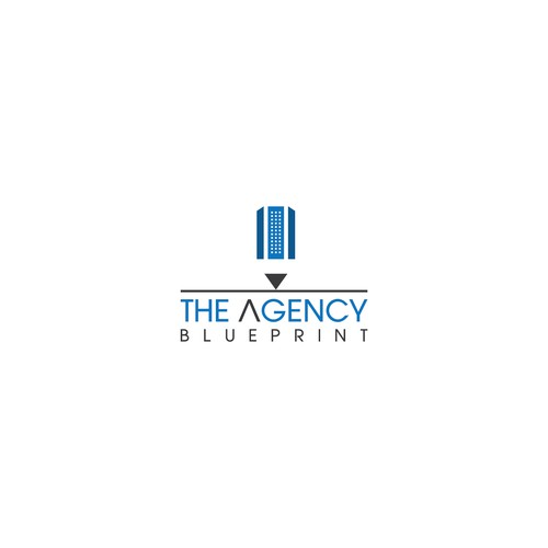 Create an elegant and professional logo for marketing company, The Agency Blueprint