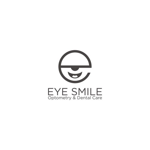 Logo concept for eye smile