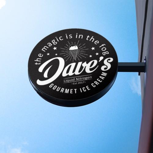 Bold Logo Concept For Dave's Ice Cream