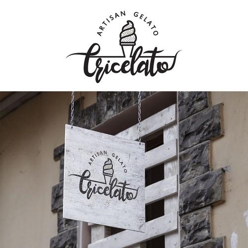 Logo for a gelato store