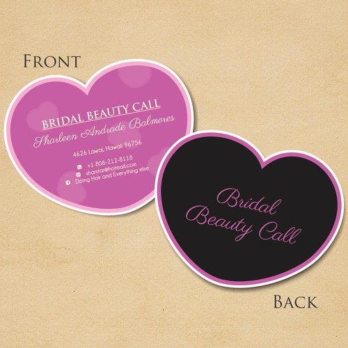 "stationery for Im Not sure..  My name is Sharleen Andrade Balmores.   Maybe, ""Bridal Beauty Call"""