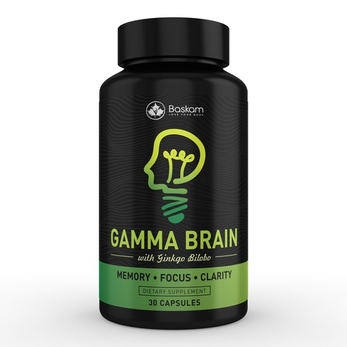 Brain Supplement Label Design