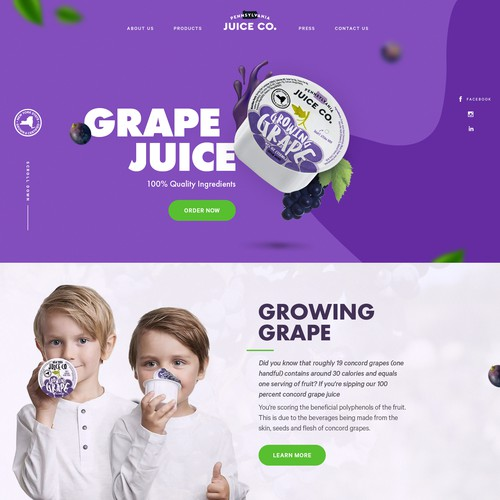 Grape Juice New Website!