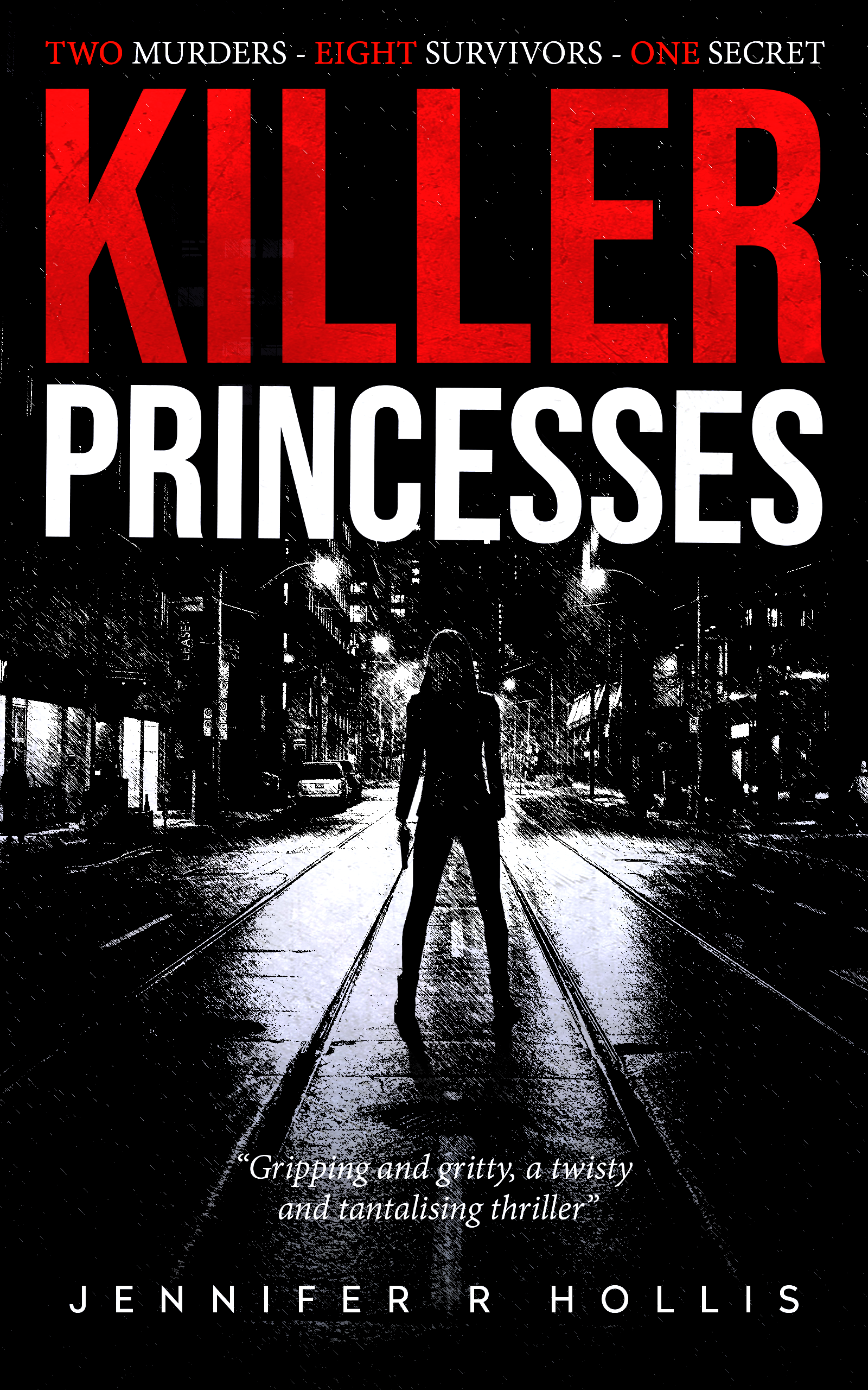 Female-led crime novel laced with dark humour - ebook cover