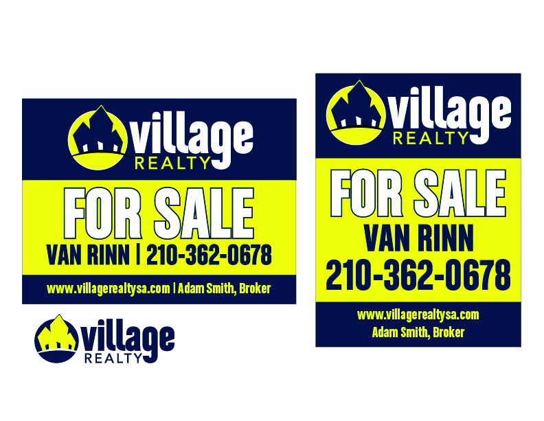 FOR SALE SIGN for Village Realty