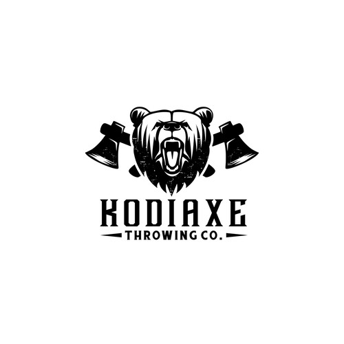 Bold logo for axe throwing
