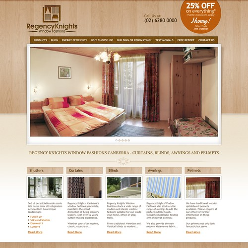 New website design wanted for Curtains and Blinds Company