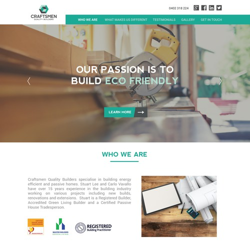 Website for Eco friendly building company