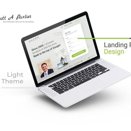 Light theme Landing page