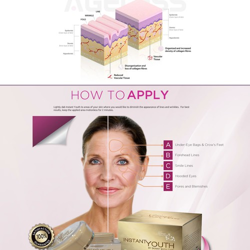 LANDING PAGE FOR BEAUTY PRODUCT - Skin Care