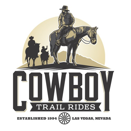 Logo for a rebranding of Cowboy Trail Rides