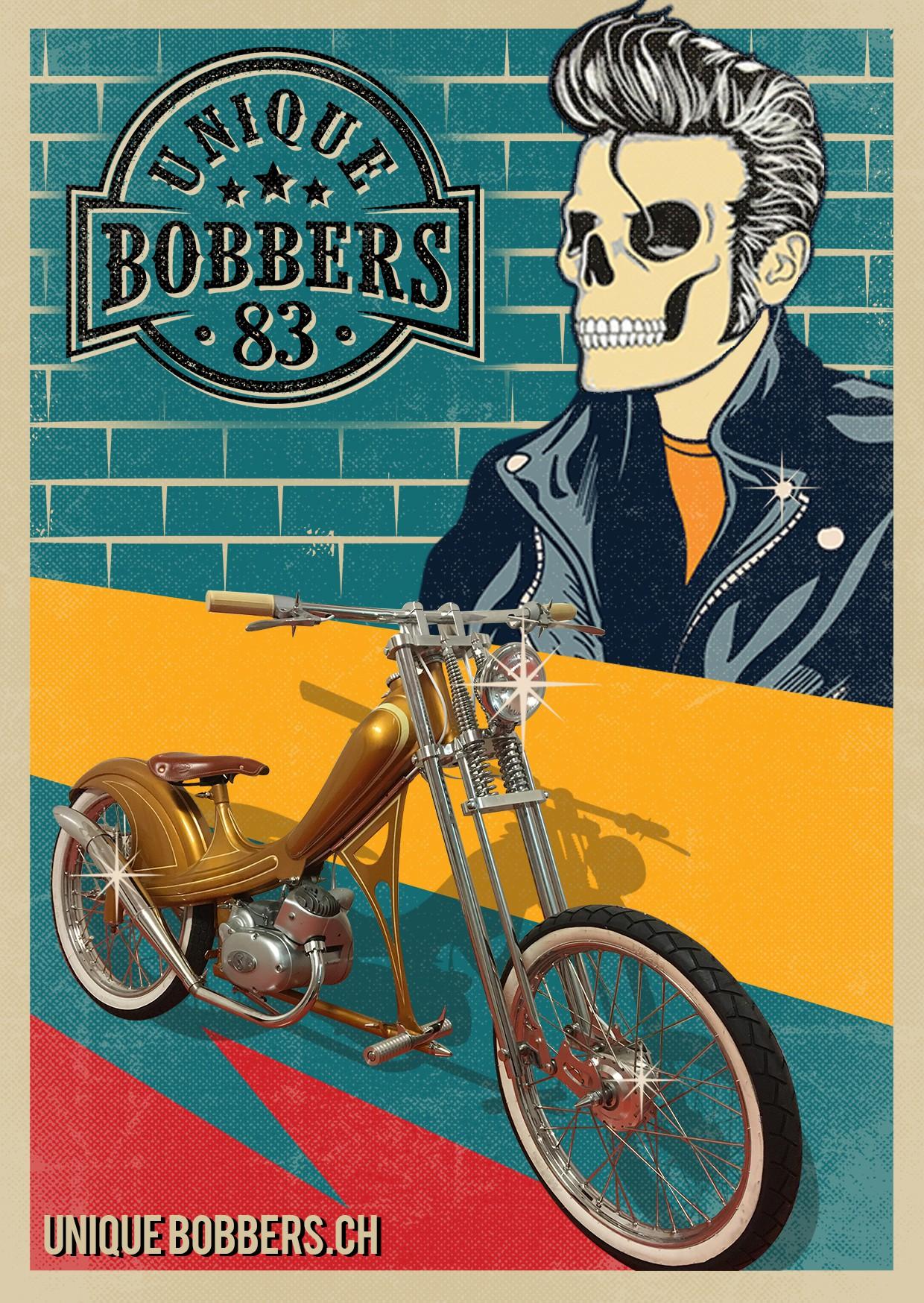 Elvis Presley Skull meets Bobber