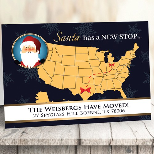 Holiday We Moved Card