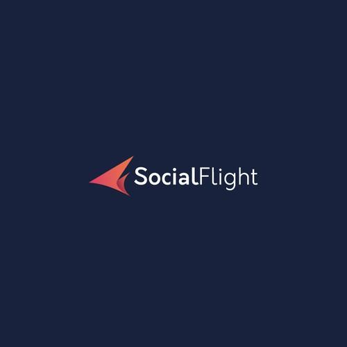 Bold logo concept for SocialFlight