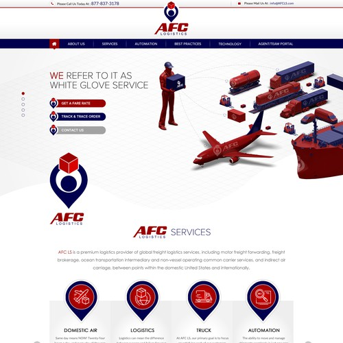 Elevate the AFC Logistic Services brand beyond the commodity, transactional-focused category