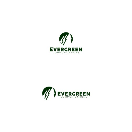 logo concept for evergreen communication