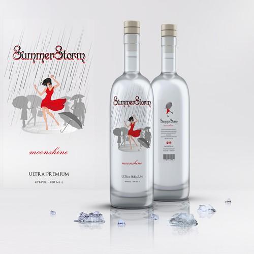 Summer Storm - label design