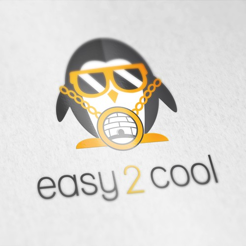 Easy 2 Cool Penguin Mascot