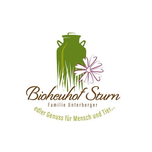 Logo für einen Bioheuhof