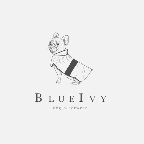 Illustrative yet minimal logo for a dog accessories brand