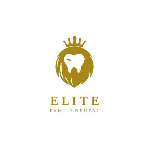 luxurious elite logo for dental clinic