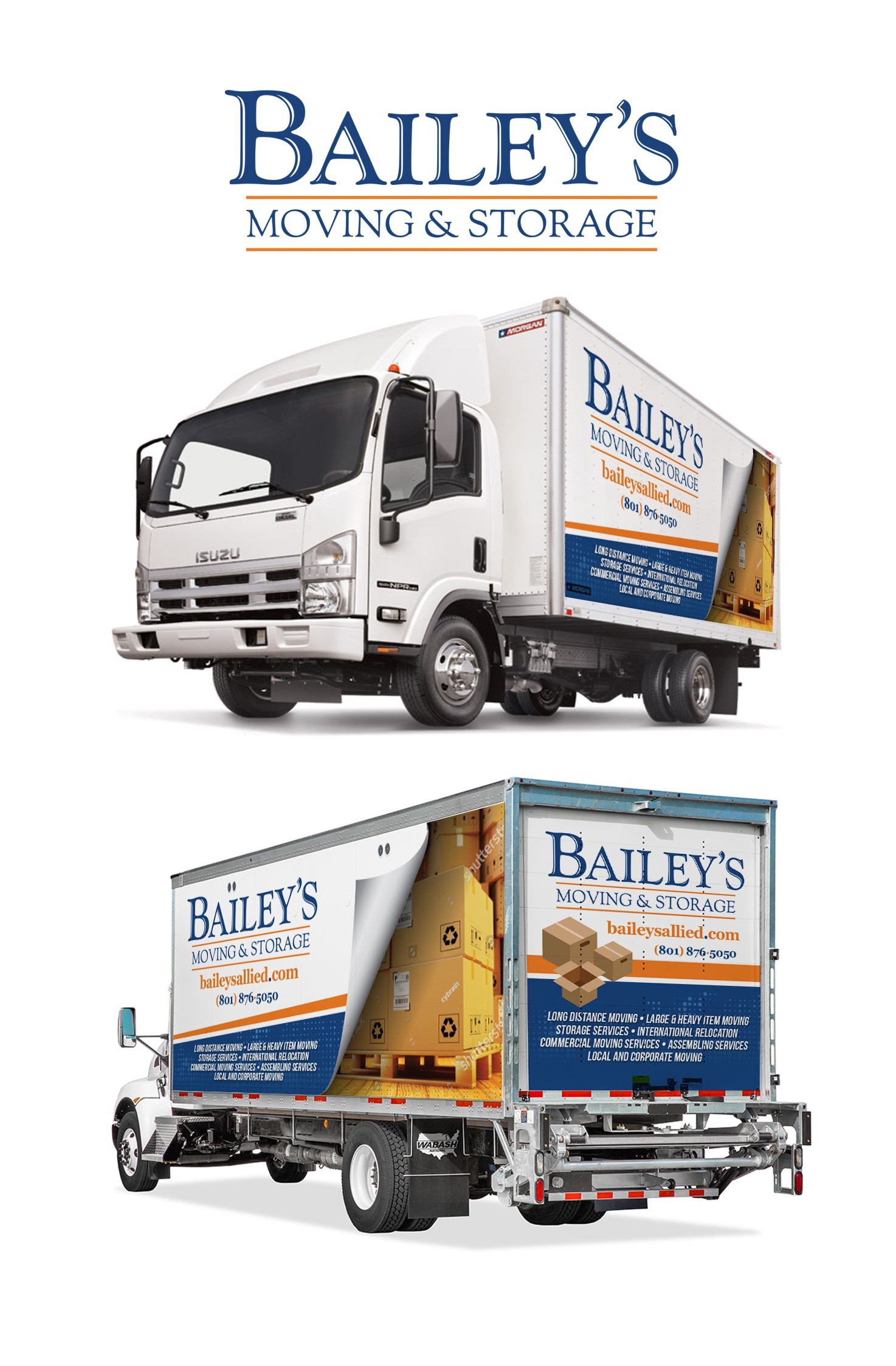 Large National Moving Company Needs New Box Truck Wrap
