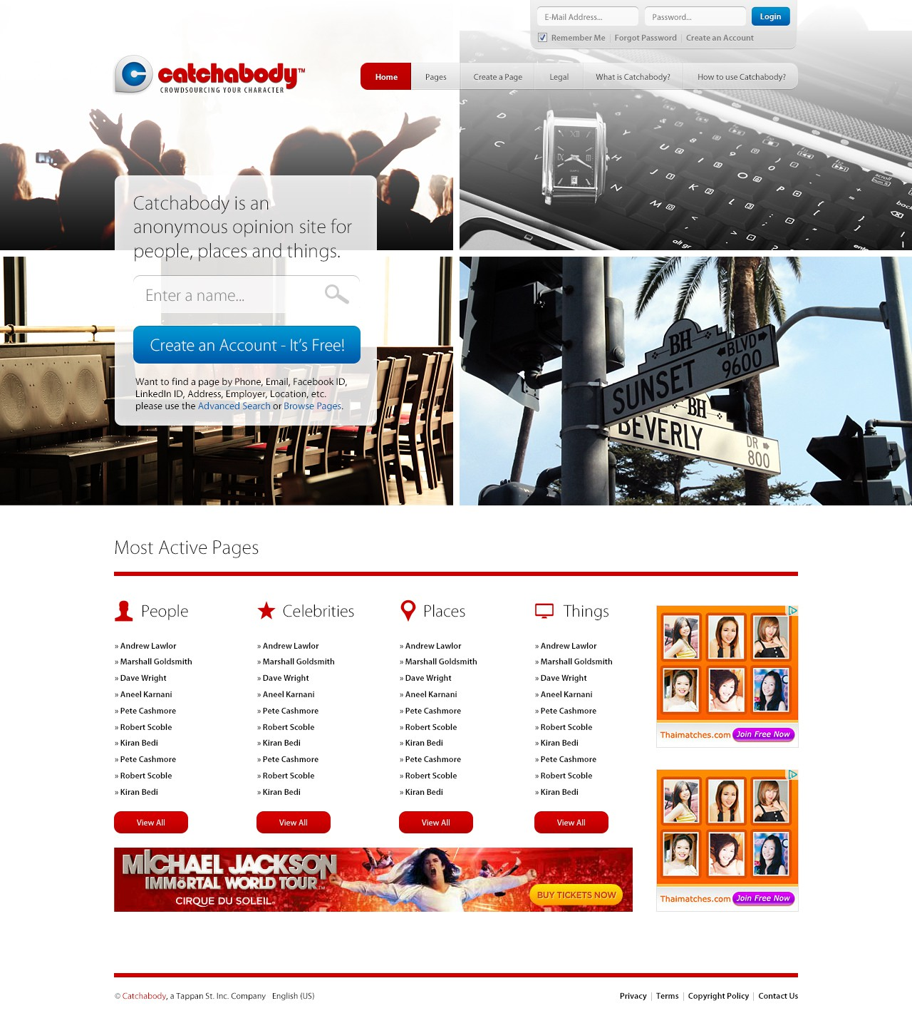 website design for Catchabody