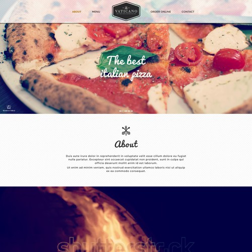 create stylish web site for pizzeria