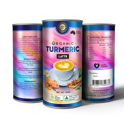 Organic Turmeric Latte Container Design