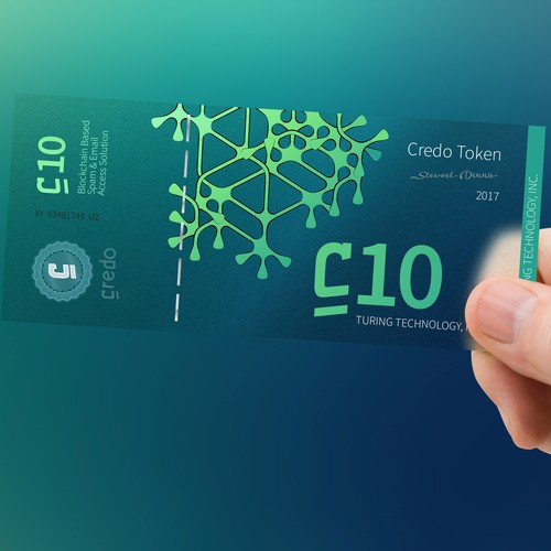 Cryptocurrency banknotes design.