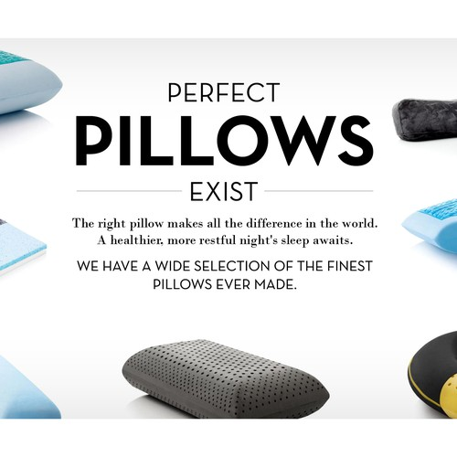 Perfect Pillows, 1800x1000 Banner, Additional Work Available