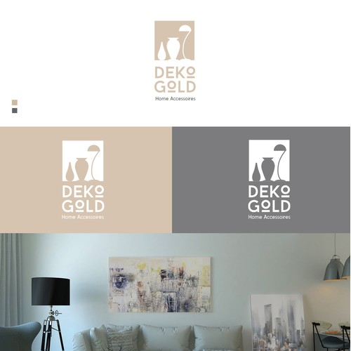 Logo proposal for a DEKO GOLD, a deco shop in Germany