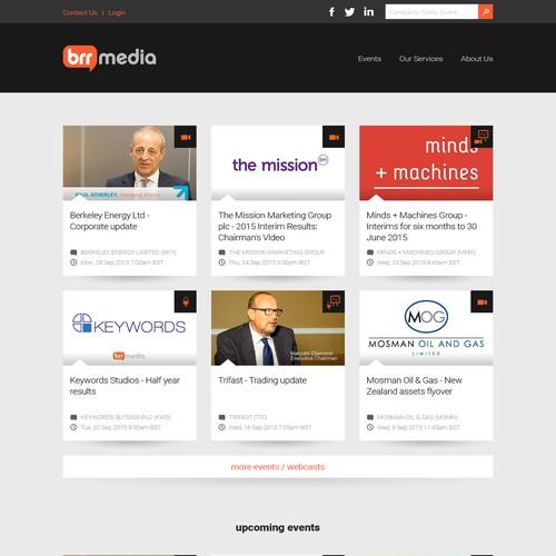 Corporate Webcasting & Media Website Design