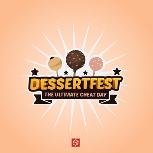 Bold logo for dessert festival.