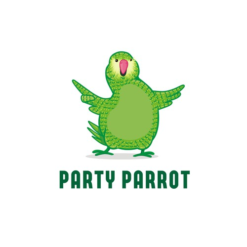 Create the brand of this Funny Partying Parrot!!